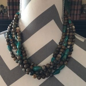 Jewelry - Turquoise, Jasper and Sterling Silver necklace